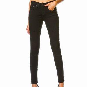 rag & bone Black High Rise Ankle Skinny Jean